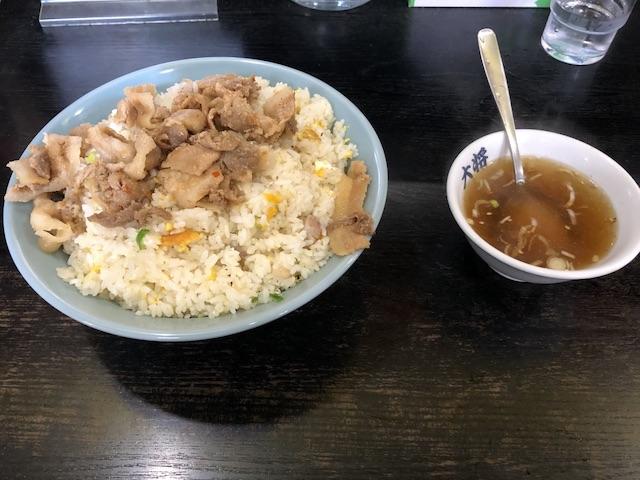 ラーメン大将札幌北18条店肉チャーハン大盛3